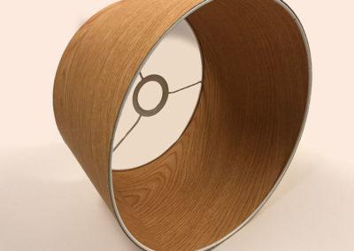 Pantalla forrada de madera de Artesanía Antonio