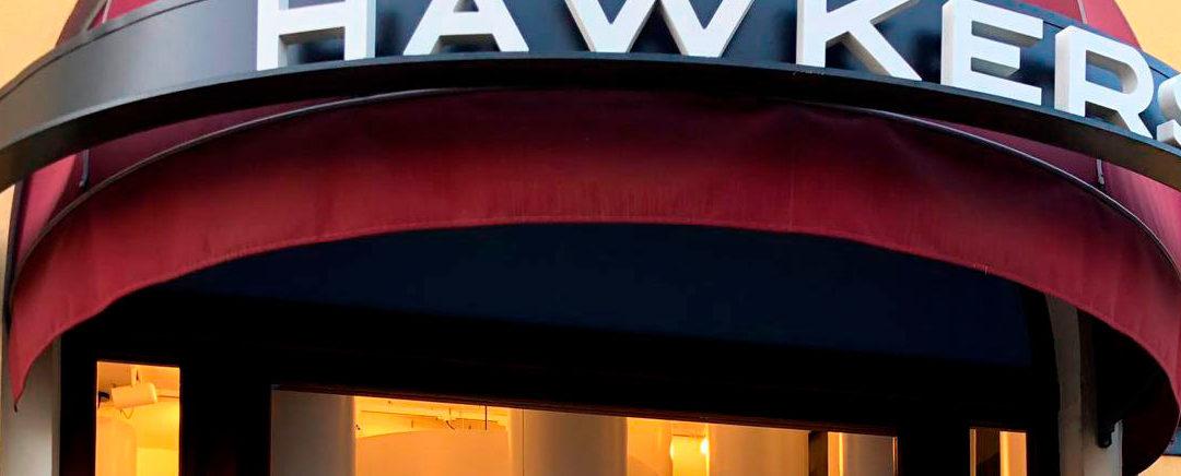 Pantallas de gran formato para Hawkers