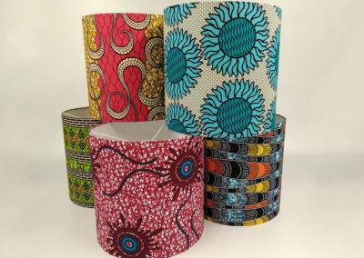 Lámparas con diseños africanos de Artesanía Antonio